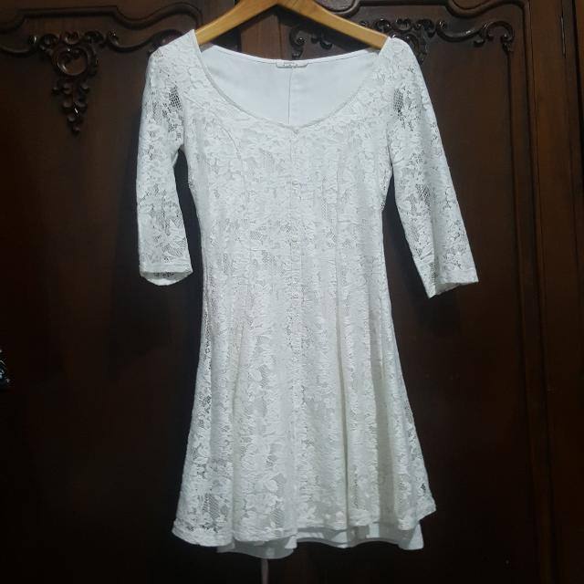 BERSHKA White Dress