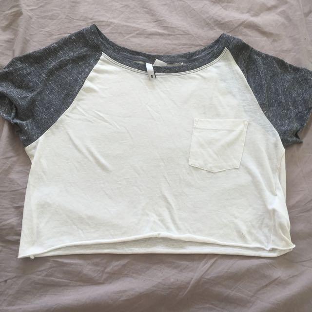 White H&M Crop Top