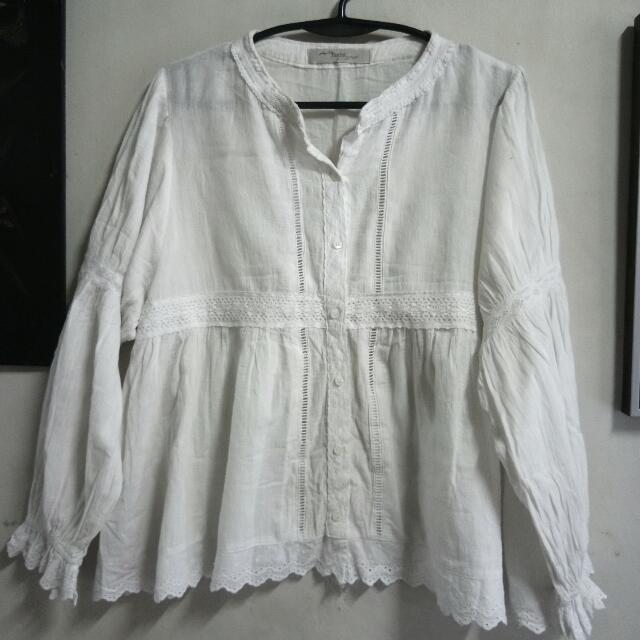 White Laced Longsleeves