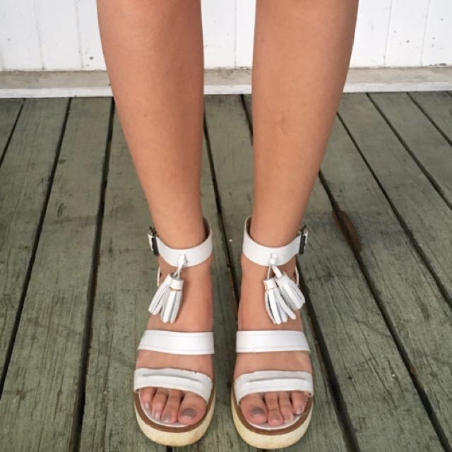 Windsorsmith White Small Heels