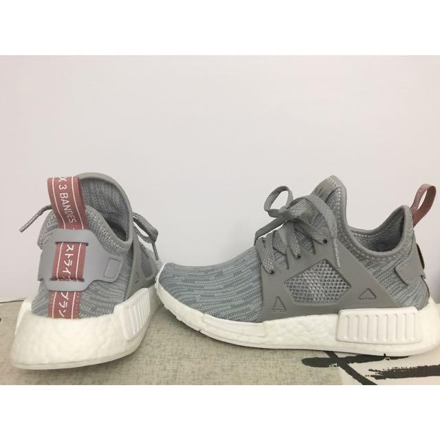 8920721509ba5 Women s Adidas NMD XR1 PK Clear Onyx Pink Salmon Grey White Primeknit  BB3686