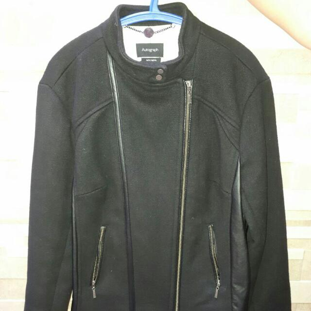 REPRICE-Wool Jacket Autograph. Mark & Spencer