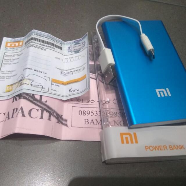 Xiomi mi pro 2 powerbank 128000 mah qualcomm quich charge 2.0 blue 6 bln garansi