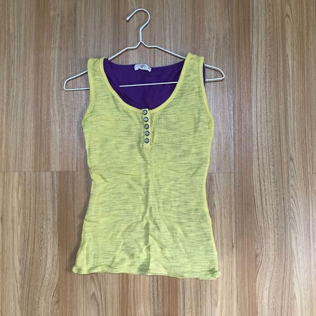 Yellow-Purple Top