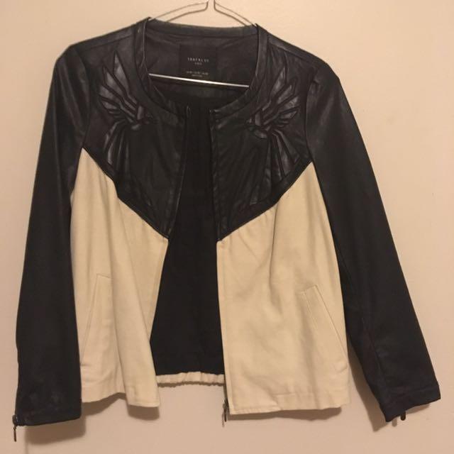 Zara Pleather Jacket Size 6-8