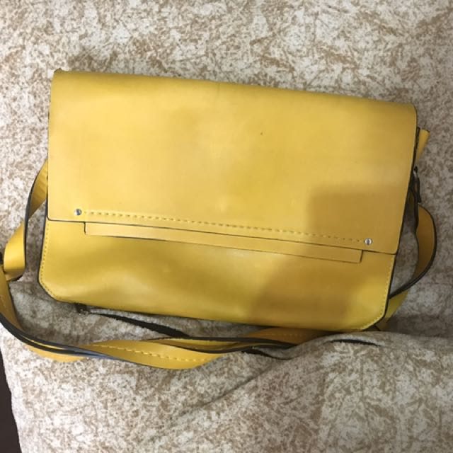Zara Yellow Bag