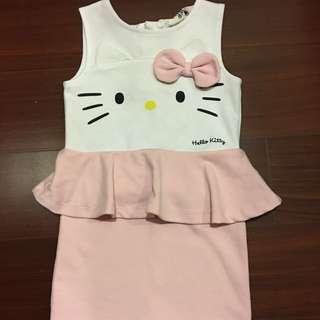二手H&M凱蒂貓粉紅洋裝
