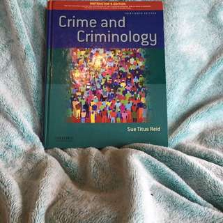 Crime And Criminology By Reid 13th