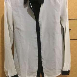 black n white shirt