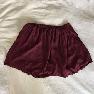 Brandy Melville Skirt - Burgundy - O/S