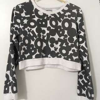 Disney Mickey Mouse Cropped Sweater