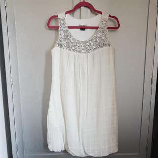 Mac&Jac White Beaded Dress