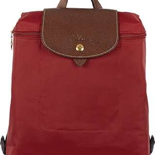 Longchamp Le Pliage Backpack In Red