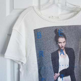 Zara - Short Sleeve Graphic Sweater