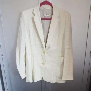 White Linen Wilfred Blazer