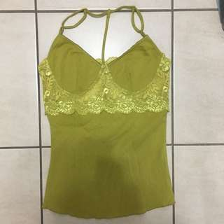 David Bitton Lime Green Tank Top
