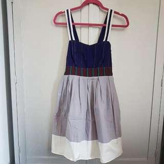 Colorblock Garden Dress