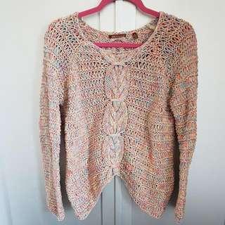 Multi-Cploured Crochet Sweater