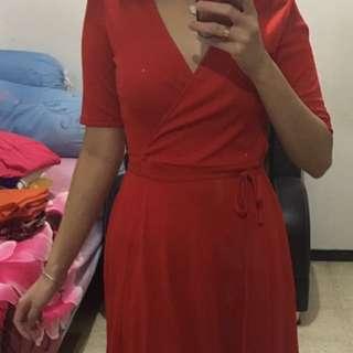 Zara Red Dress Original