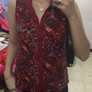 Batik Top Red