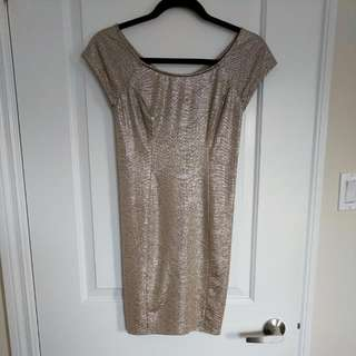 Size 2 Guess Gold Dress