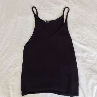 Black Loose Tank XS/S Urban Outfitters