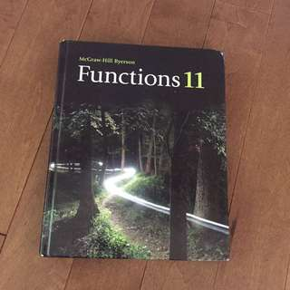 McGraw-Hill Ryerson Functions 11 Textbook