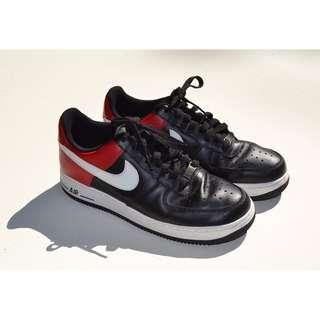 Mens Nike Air Force 1 Low Cut Black & Red