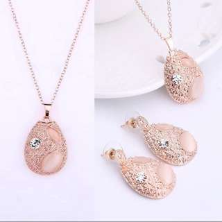 EED Rose Gold Plated  Pendant Dangle Jewelry.