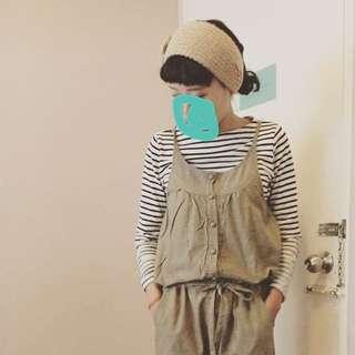 高質感日系棉麻吊帶褲