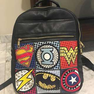 DC Comics Leather Backpack From Korea