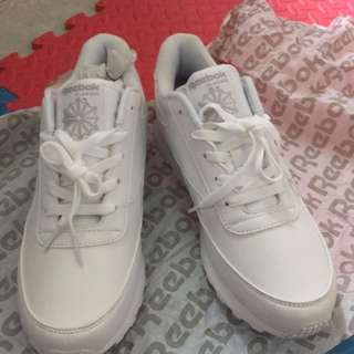 reebok white rubber shoes