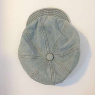 vintage denim baker boy hat