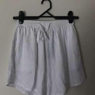 White Glassons Shorts