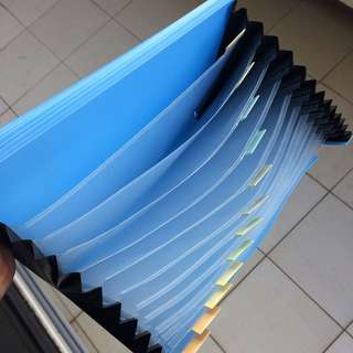 **CLEARANCE** Plastic File Envelop with deviders