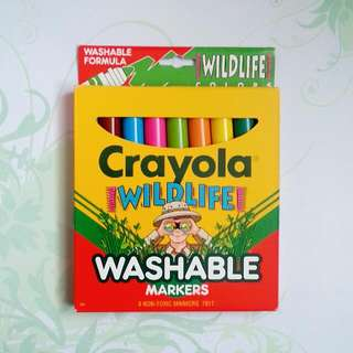 BN Crayola 8pk Wildlife Washable Markers