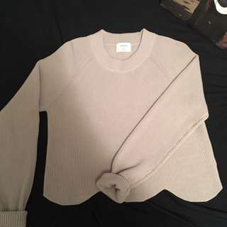 Wilfred Sardou Scalloped Sweater