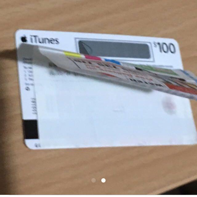 100 Dlls iTunes Card