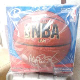 Magic Johnson Signed NBA Zi/O Basketball ( Signed In Silver)
