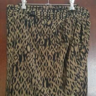 Witchery Size 12 Batik Wrap Summer Skirt