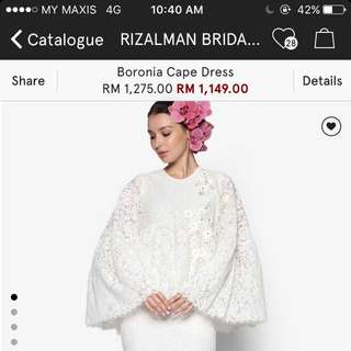 Rizalman Boronia Cape Dress - FOR RENT