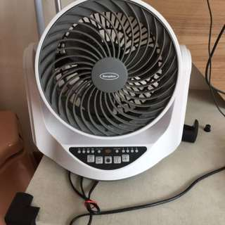 2 Small Used EuropAce Table Fans