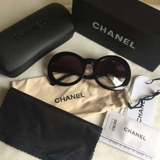 RARE Chanel half tint sunglasses