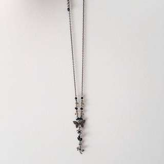 Necklace Choker Butterfly Black