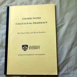 Usyd Pharmacy Calculus Textbook