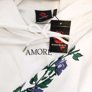 New: Wasted Paris AMORE Roses Hoodie Men's Large