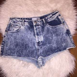 High Wasted Top Shop Jean Shorts
