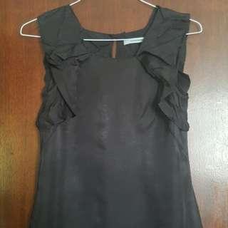 Veronika Maine Black Work Top Size 8