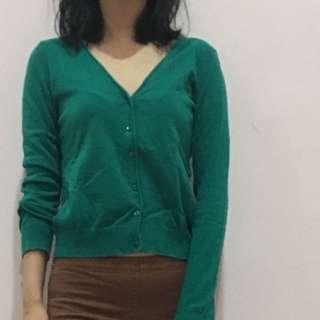 H&M cardigan hijau size S