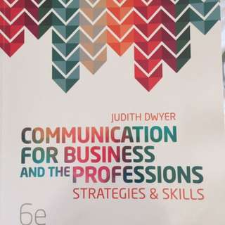 Communication For Business and the Profession